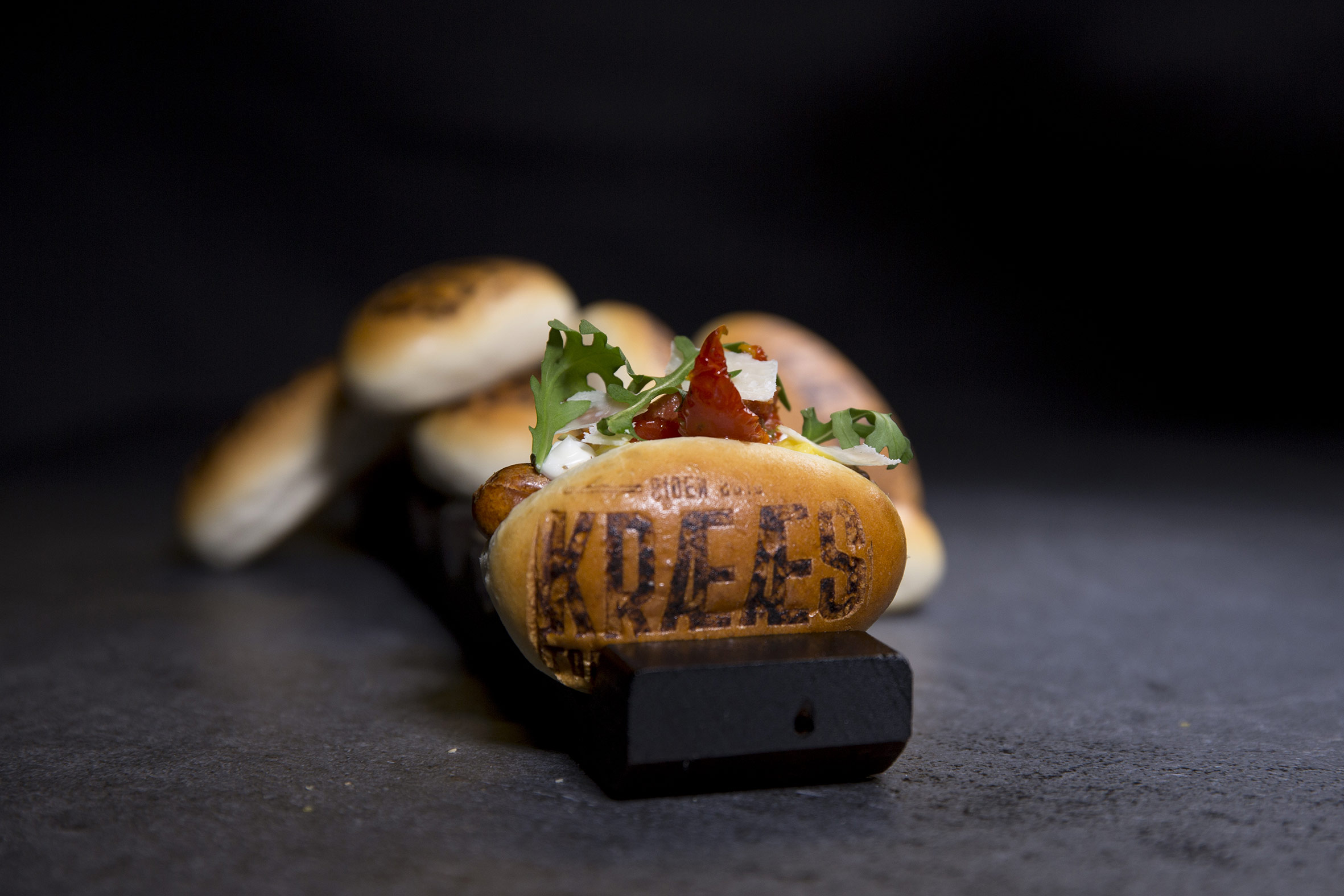 Mini hotdog Italien style